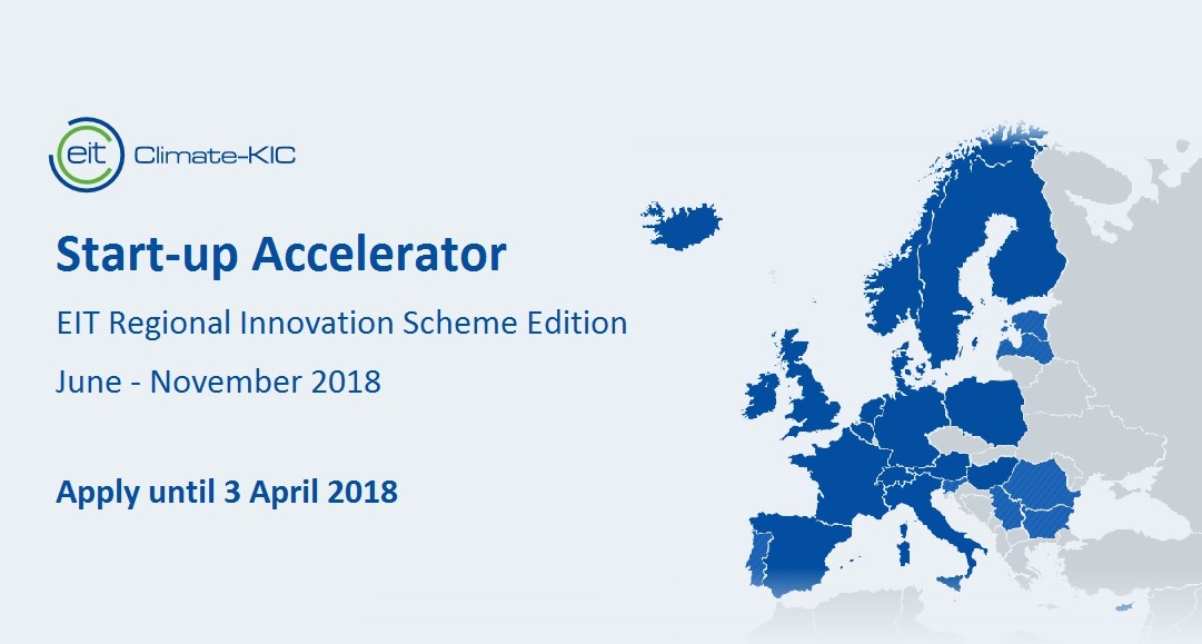 EIT Climate-KIC Accelerator for EIT Regional Innovation Scheme countries