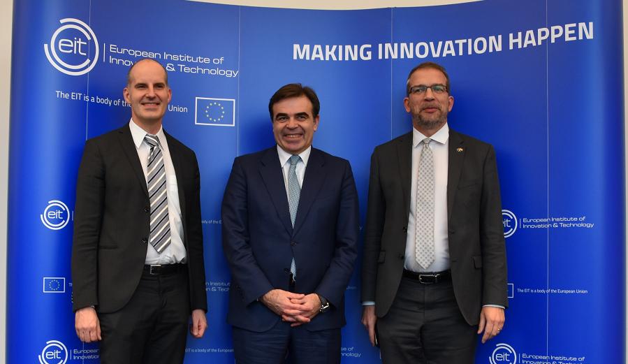 Martin Kern, Margaritas Schinas, Gabor Zupko, EIT, EU Commission