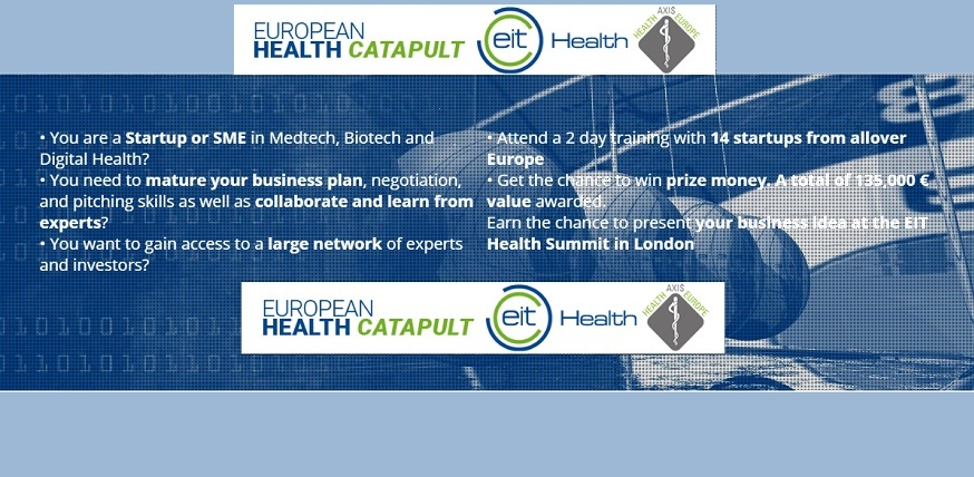 Apply now for EIT Health's European Health Catapult Competition