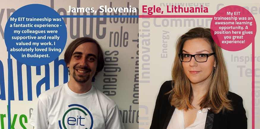 Join us as a trainee at the EIT!