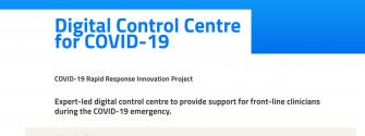 Digital Control Centre for COVID-19