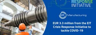 EIT Manufacturing awarded EUR 3.3 million from the EIT Crisis Response Initiative to tackle Covid-19