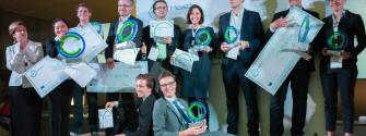 Group picture of all the winning start-ups at EIT Health Summit in Barcelona