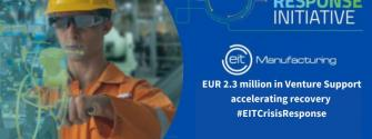 EIT Manufacturing selects eight companies to benefit from EIT Crisis Response venture support instrument