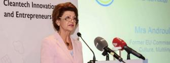 Androulla Vassiliou, the former EU education, culture, multilingualism and youth commissioner spoke at the launch. Photo: @chrysalisleap