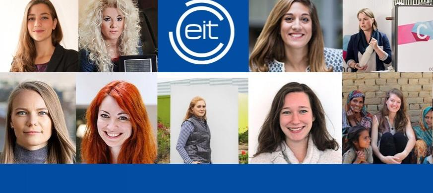 Collage of EIT-supported women entrepreneurs