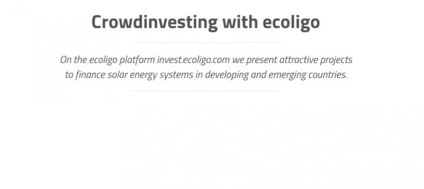 EIT InnoEnergy supported ecoligo crowd funding success