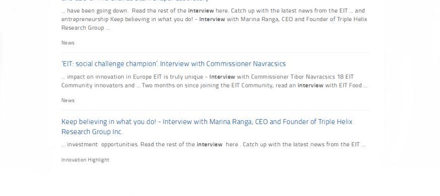 EIT interview collection