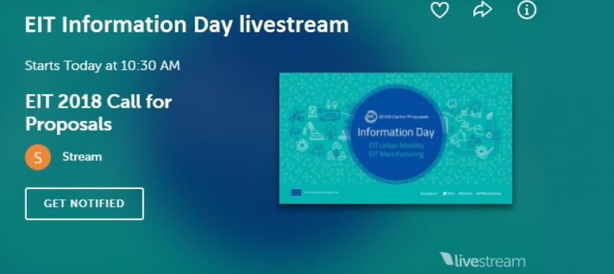 EIT Call for Proposals Information Day livestream