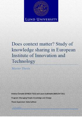 innovationsmanagement master thesis