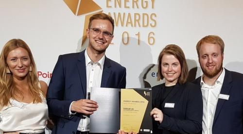Coolar founders Julia Römer & Arno Zimmerman at Handelsblatt Energy Awards