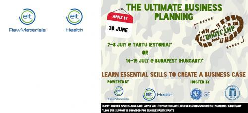 EIT Health EIT Raw Materials bootcamps