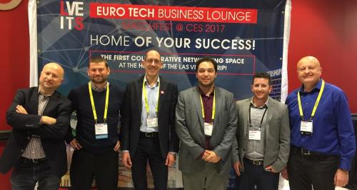 EIT Digital-supported scaleup Origone at the European/American Pitch Awards Competition during MatchFest at CES 2017