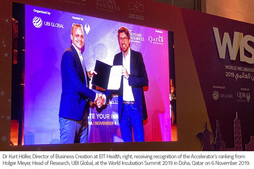 EIT Health Accelerator among top global programmes