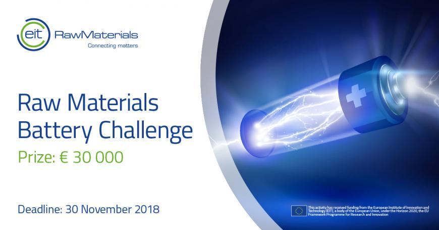 EIT RawMaterials Battery Challenge
