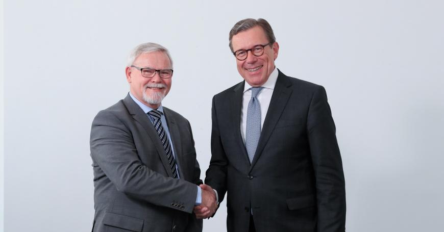 EIT Governing Board Peter Olesen and Dirk Jan van den Berg