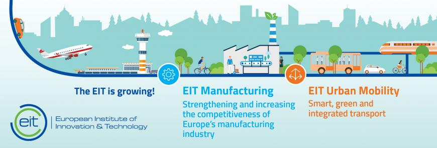 EIT announces two winning innovation communities in manufacturing and urban mobility