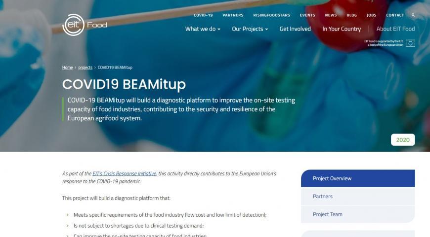 COVID19 BEAMitup (Diagnostic test SARS-CoV-2 and surrogate biological standard for sanitization validation