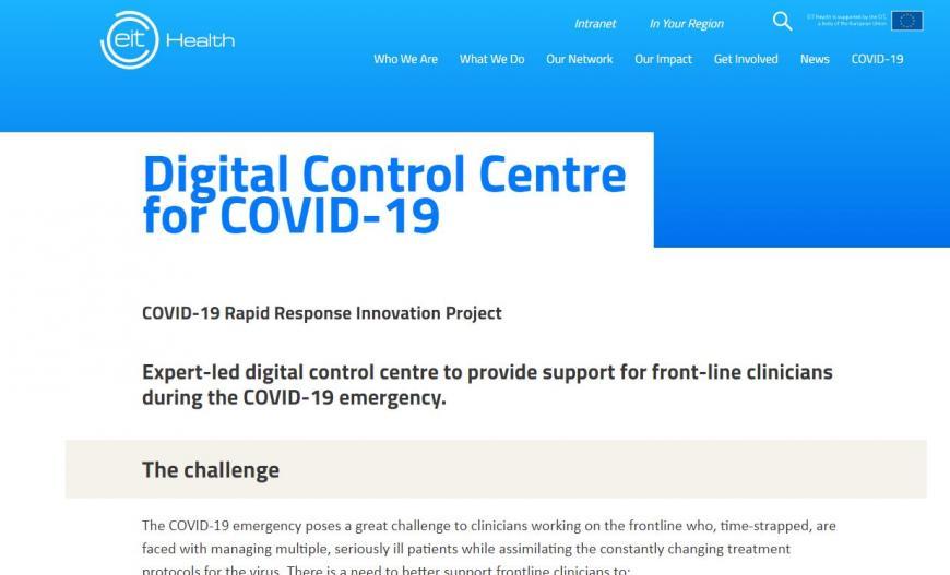 Digital Control Centre for COVID-19