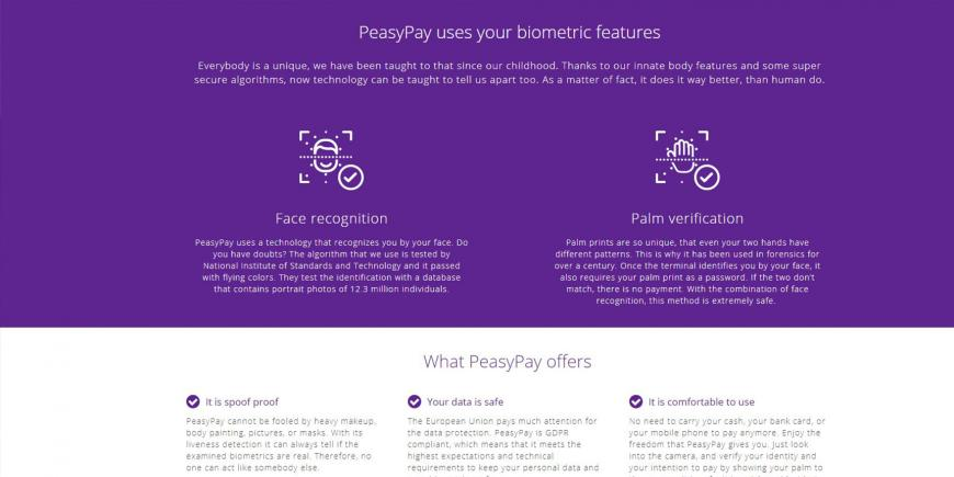 EIT Digital supported PeasyPay: European solution for biometric payments