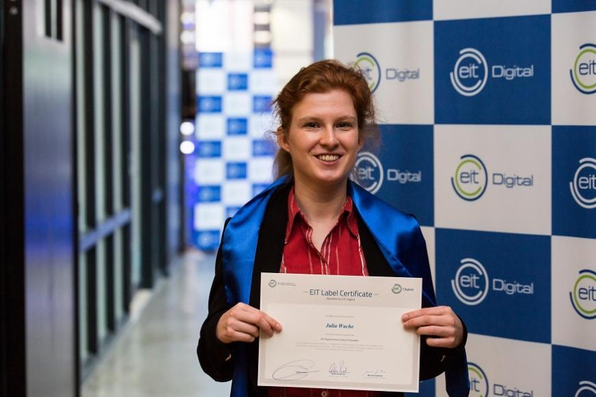 EIT Digital graduate Dr Julia Wache feelSpace