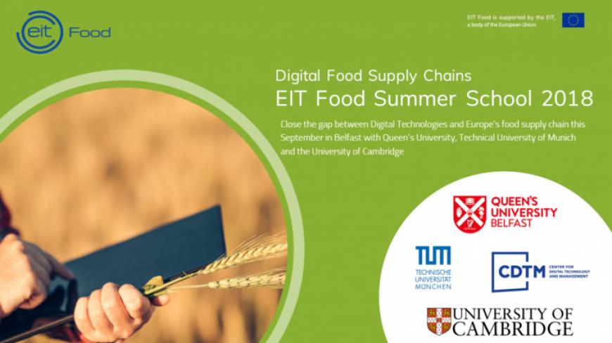 EIT Food Summer School 2018 on Digital Food Supply Chains
