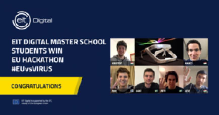 EIT Digital Master School students among winners of EUvsVirus hackathon