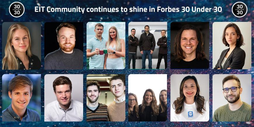 EIT Community entrepreneurs recognised in Forbes 30 Under 30