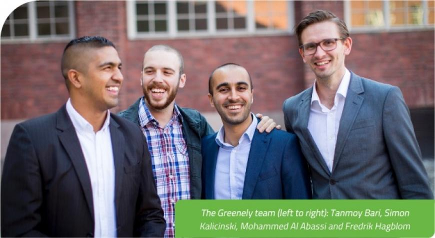 The Greenely team (left to right): Tanmoy Bari, Simon Kalicinski, Mohammed Al Abassi and Fredrik Hagblom