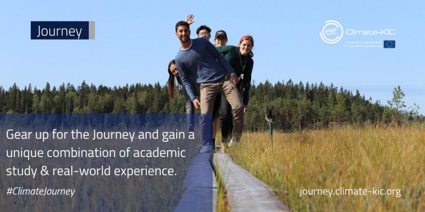 Be the next climate champion! Apply now for EIT Climate-KIC's 'The Journey'